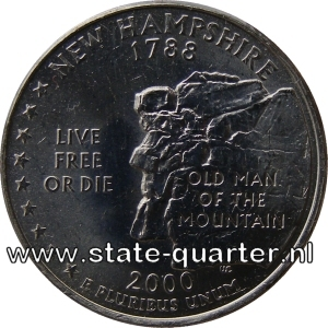 New Hampshire State Quarter 2000